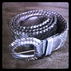 NWOT silver braided belt